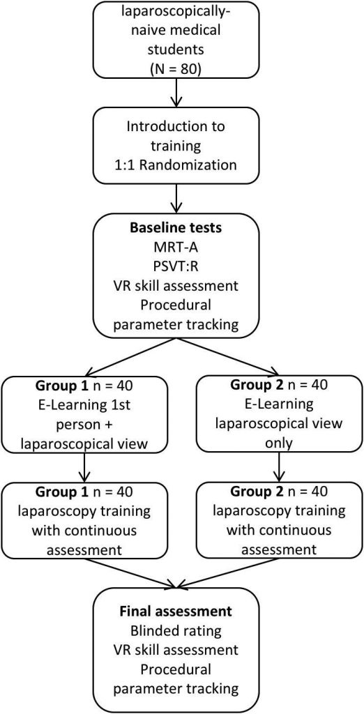 Learning from the surgeon's real perspective - First-person view versus laparoscopic view in e-learning for training of surgical skills? Study protocol for a randomized controlled trial.